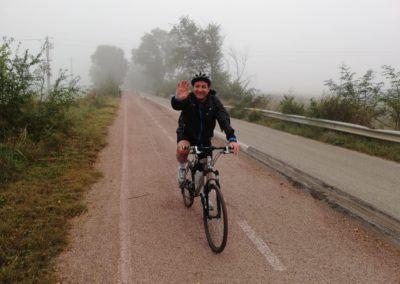 Sulla pista ciclabile che porta a Venusio