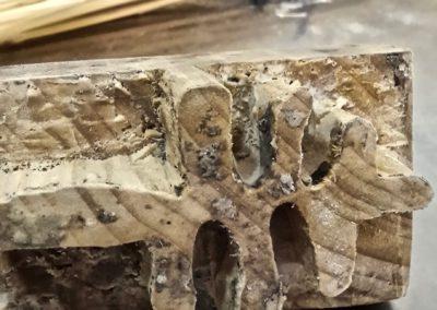 Timbro del pane in legno con vecchio logo di Matera 2019